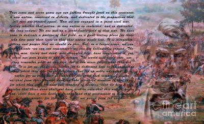 Politicians Digital Art - Lincolns Gettysburg Address by Randy Steele