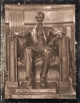 Photograph - Lincoln's Tomb And His Statue by Luther Fine Art