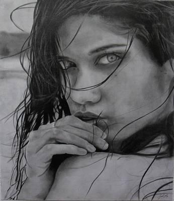 Drawing - Linda by Luis Carlos A