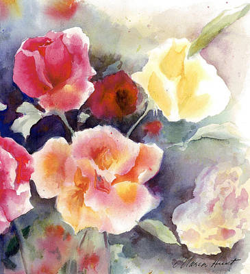 Free Painting - Roses In The Garden by Maria Hunt