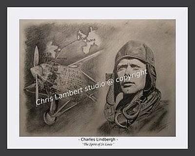 Lindbergh And Spirit Of St Louis Original by Chris Lambert