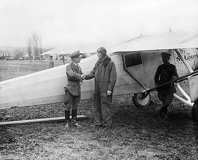 Lindbergh And 'spirit Of St Louis' Art Print by Library Of Congress