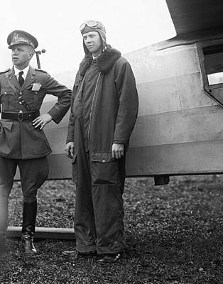 Bolling Photograph - Lindbergh At Bolling Field C. 1929 by Daniel Hagerman