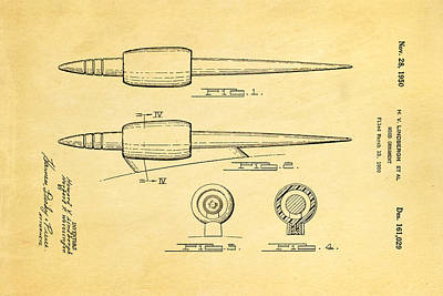 Lindbergh Photograph - Lindbergh Hood Ornament Patent Art 1950 by Ian Monk