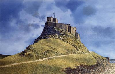 Art Print featuring the painting Lindisfarne Castle by Tom Wooldridge