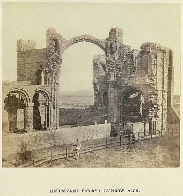 Lindisfarne Priory: Rainbow Arch Art Print by British Library