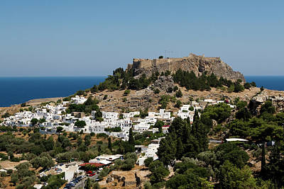 Photograph - Lindos Acropolis Looking Seaward by Lorraine Devon Wilke