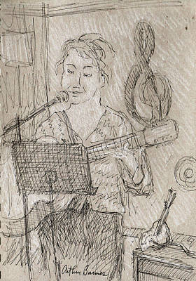Musicians Drawings - Angelic by Arthur Barnes