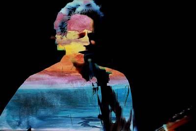 Mac Digital Music Digital Art - Lindsey Buckingham by John Delong
