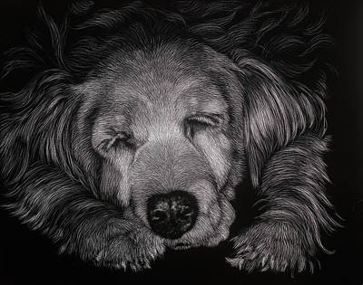 Asleep Mixed Media - Lindsey by Kathleen McCarthy