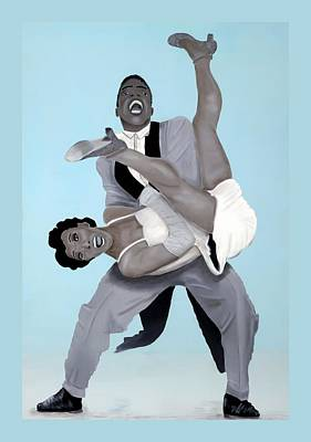 Lindy Painting - Lindy Hop Dancer by Michelle  McCoy