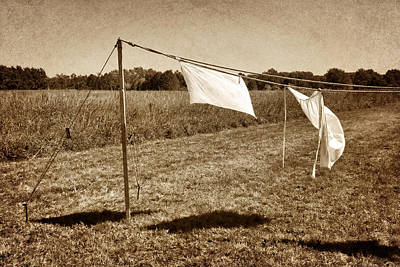 Towels Drying Photograph - Line Dance 1 by Nikolyn McDonald