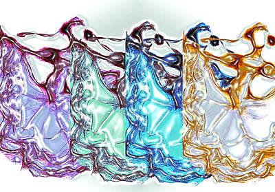 Mexican Dance Digital Art - Line Dance by Ellsbeth Page
