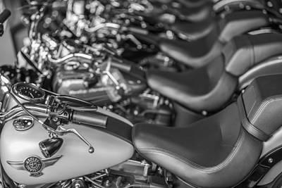 Photograph - Line Of Harley's  by John McGraw