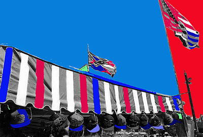 Line Of Hats Tent Us Confederate Flags Tucson Arizona 1984-2012 Original by David Lee Guss