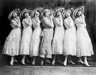 Line Of Seven Theater Women Art Print