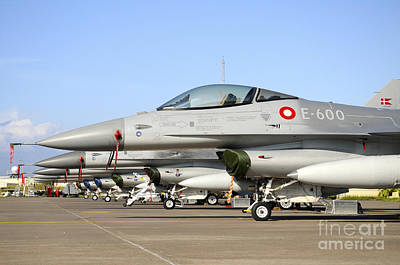 Fruits And Vegetables Still Life - Line-up Of F-16a Mlu Of The Royal by Riccardo Niccoli