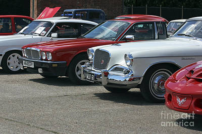 Photograph - A Line Up Of Vintage Cars by Terri Waters