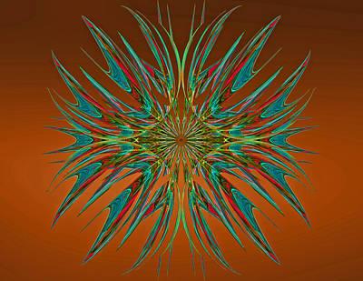Digital Art - Linear Fractal by Sandy Keeton