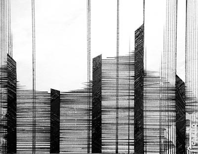 Black Drawing - Linear Lines by Andres Carbo