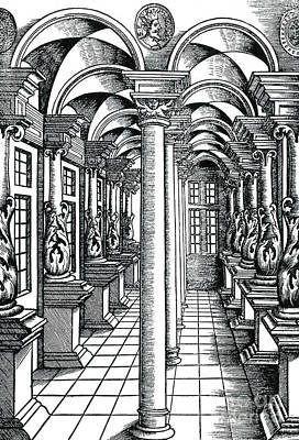 Visual Perceptions Photograph - Linear Perspective, 1546 by Science Source