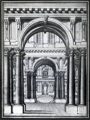 Visual Perceptions Photograph - Linear Perspective, 18th Century by Science Source