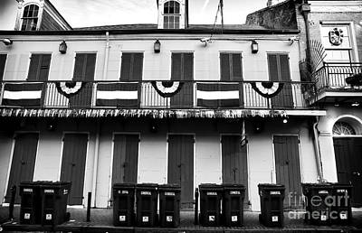 Lined Up On Bourbon St Print by John Rizzuto