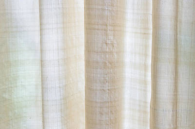 Linen Curtain Art Print by Tom Gowanlock