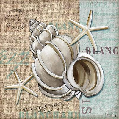 Compass Painting - Linen Shells Iv by Paul Brent
