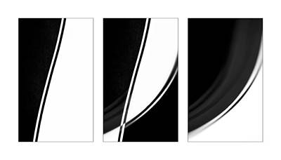 Lines And Curves In Black And White Art Print by Natalie Kinnear
