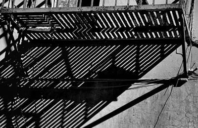 Photograph - Lines And Shadows In Black And White by Nadalyn Larsen