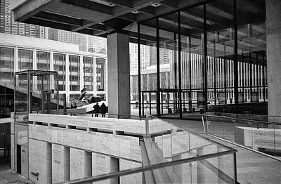 Photograph - Lines At Lincoln Center by Cornelis Verwaal