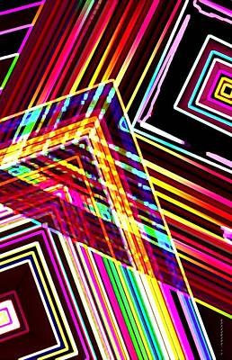 Abstract Digital Digital Art - Lines In Geometric Shape  by Mario Perez