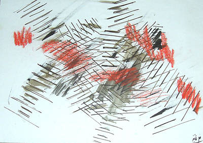 Art Print featuring the painting Lines In Movement by Esther Newman-Cohen