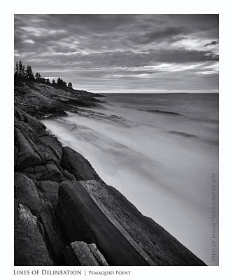Coastal Maine Photograph - Lines Of Delineation by Chad Tracy