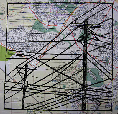 Lines On Map Original by William Cauthern
