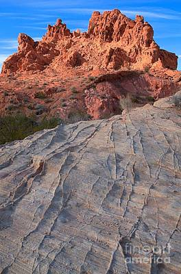 Photograph - Lines To The Red Rock Towers by Adam Jewell