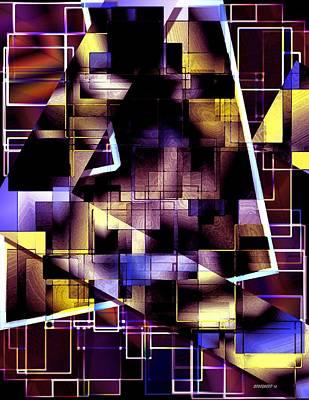 Lines Vs Diagonals Art Print by Mario Perez