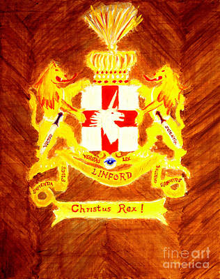 Linford Coat Of Arms Honoring My Ancestors Especially John And Maria Linford Art Print by Richard W Linford