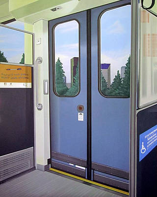 Painting - Link Light Rail Seattle by Jude Labuszewski