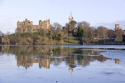 Photograph - Linlithgow Palace Winter Reflections by Ross G Strachan