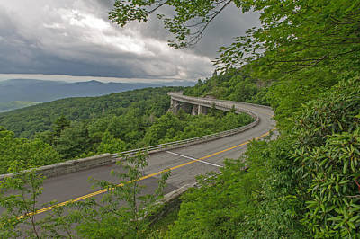 Photograph - Linn Cove Viaduct   Blue Ridge Parkway by Willie Harper