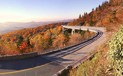 Photograph - Linn Cove Viaduct On An Autumn Morning by Gregory Scott