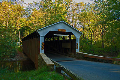 Photograph - Linton Stevens Covered Bridge by Michael Porchik