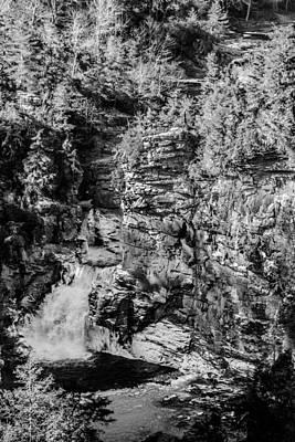Photograph - Linville Falls Monochrome by Randy Scherkenbach
