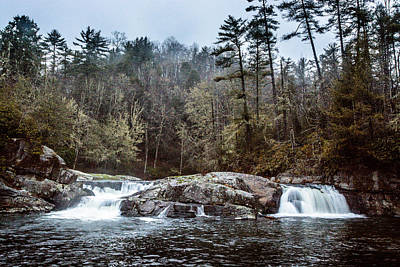 Photograph - Linville Upper Falls by Randy Scherkenbach