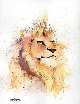 Painting - Lion 3 by Arleana Holtzmann