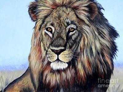 Lion Print by Amanda Hukill