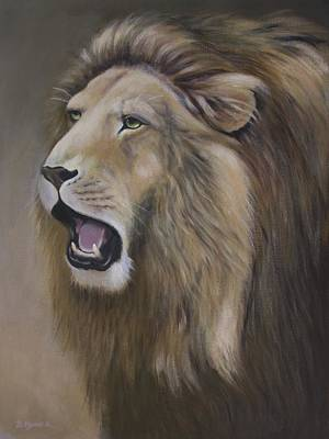 King Of Beasts Painting - Lion by Barbara Hymer