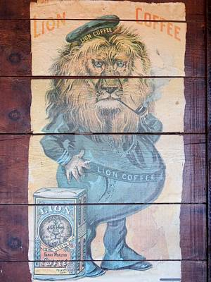 Lion Coffee Art Print by Susan Ince